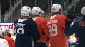 Oilers split into groups for Day 1 of training camp
