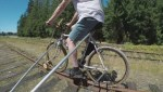 Vancouver Island man develops bike to ride rail tracks