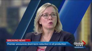 Commentator Janet Brown weighs in on Notley's oil production cut announcement