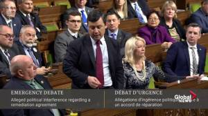 Conservative calls SNC-Lavalin controversy a 'constitutional crisis' (03:21)
