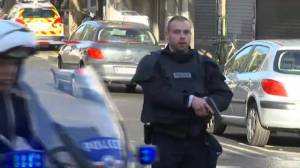Knife-wielding man shot by Paris police on anniversary of Charlie Hebdo attacks