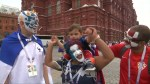 France, Croatia fans rally in Moscow ahead of World Cup final
