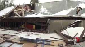 New Westminster arena roof collapses under the weight of the snow