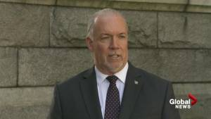 John Horgan speaks about upcoming meeting with Notley and Trudeau