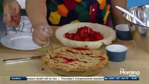 The Pie Girl shows us how to bake a strawberry ginger pie