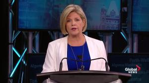 Ont. Leaders' Debate: Horwath says she rejects memes with Hitler