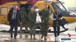 Grey Cup trophy arrives in Edmonton for the big game