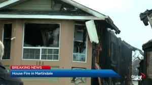 No injuries in 2-alarm fire in Martindale on Monday