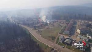 Fort McMurray wildfire: Aerial footage of the destruction in Abasand and Beacon Hill