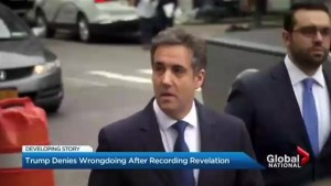 Trump denies wrongdoing after Cohen recording revelation