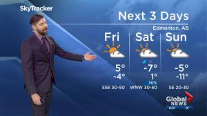 Edmonton weather forecast: Thursday, December 13, 2018