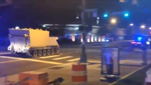 Stolen armored personnel carrier leads police on chase through Richmond, Virginia