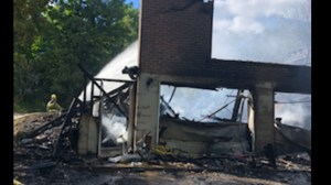 Family left homeless after fire completely destroys their home