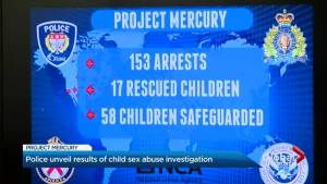 Toronto Police announce results of worldwide child pornography bust
