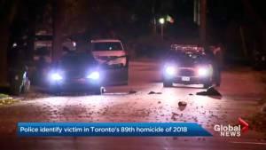 Toronto police identify victim in city's 89th homicide