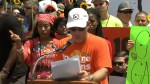 Father of Parkland shooting victim speaks during 'March on the NRA' event