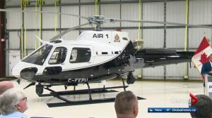 New $5.9M Edmonton police helicopter unveiled