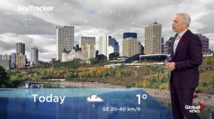 Edmonton early morning weather forecast: Friday, November 2, 2018