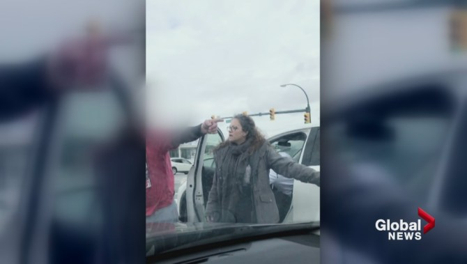 Burnaby road rage assault flares up mid-intersection, video shows