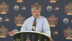 RAW: Edmonton Oilers Head Coach Todd McLellan – Oct. 23 (07:12)
