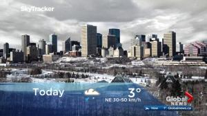Edmonton early morning weather forecast: Monday, April 16, 2018