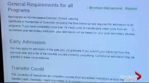 University of Saskatchewan sees spike in foreign student applications (01:40)