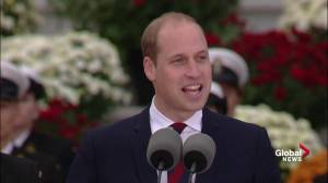Prince William very pleased to be back in Canada along with his family