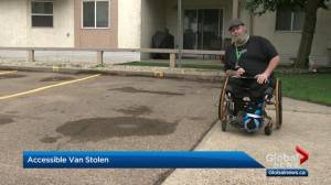 Specialized van stolen; Edmonton man asks for it to be returned