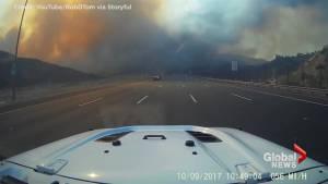 Commuters facing smoke-clogged drive in Orange County, California
