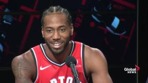 Kawhi Leonard formally introduces himself to the Raptors fanbase