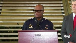 Dallas police chief praises the bravery of his officers following deadly shooting