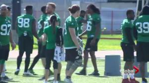 Cody Peters makes impression at Riders training camp