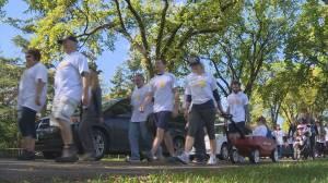 Support for Bladder Cancer walking through Winnipeg (04:11)
