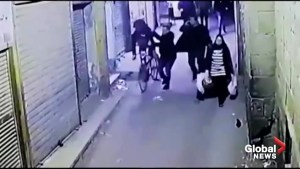 Moment of deadly suicide bombing caught on security camera in Cairo, Egypt