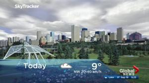 Edmonton early morning weather forecast: Tuesday, September 19, 2017