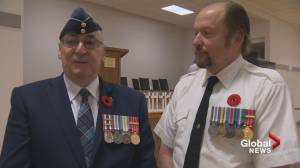 'We can sit down and talk about our experiences': Father and son share military tradition