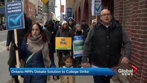 Ontario MPPs debate solution to college strike