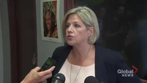 Andrea Horwath slams steel, aluminum tariffs on Canada by Donald Trump