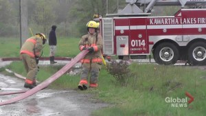 Fire in Lindsay Saturday morning at former Northern Plastics Manufacturing Plant