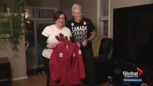 Die-hard Olympics fan from Alberta gets visit of a lifetime from Olympic medallist