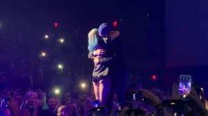 Lady Gaga invites Bradley Cooper on stage for surprise duet in Las Vegas
