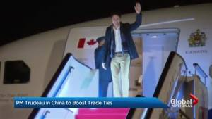 Justin Trudeau visits China to boost trade ties