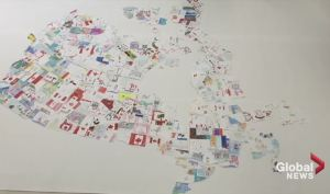 Halifax school showcases Canada 150 through large-scale map
