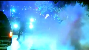 Police use tear gas on second night of protests in Ferguson, Missouri