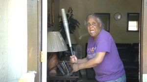 65-year-old woman slugs half-naked attacker with baseball bat