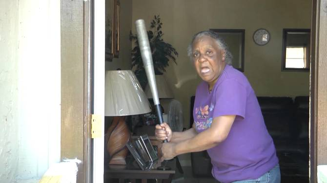 Grandmother fends off 300-pound, half-naked attacker with