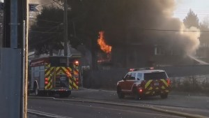 Flames tear through Surrey home