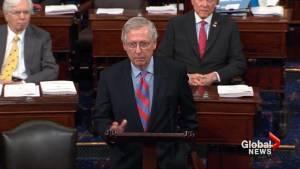 McConnell blames Democrats' senate delay tactics for GOP health care bill defeat