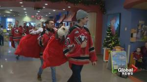 Calgary Hitmen help charities find thousands of teddy bears new homes