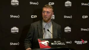 Calgary Stampeders quarterback hopes to play a good game on Sunday against Ottawa Redblacks (00:42)